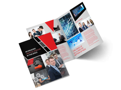 HR Consulting Services Bi-Fold Brochure Template 2