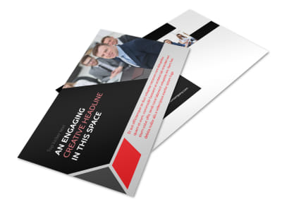 HR Consulting Services Postcard Template 2