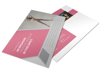 Creative Dance School Postcard Template