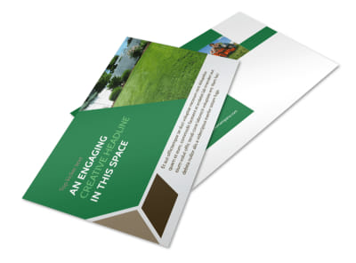Green Lawn Care Postcard Template 2