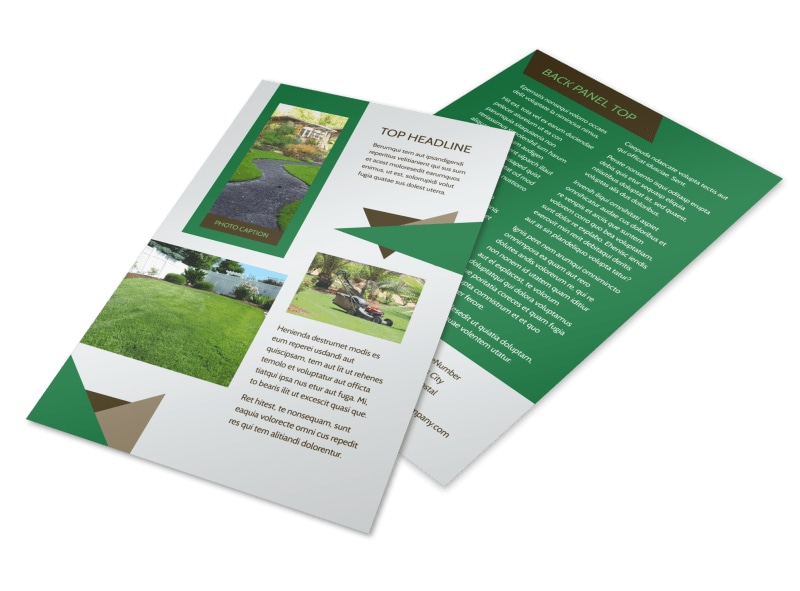 Green Lawn Care Flyer Template 3
