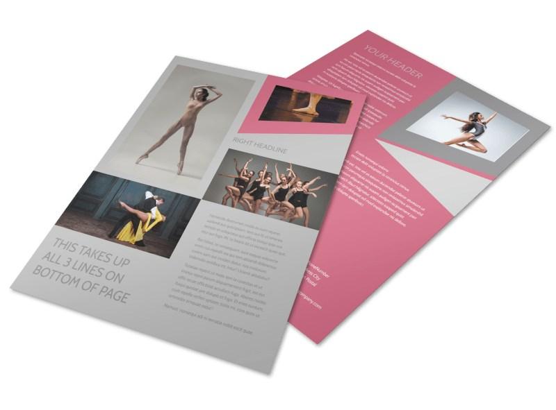 Creative Dance School Flyer Template Mycreativeshop