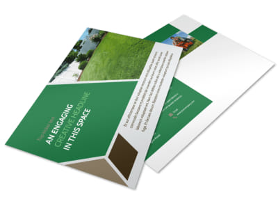 Green Lawn Care Postcard Template preview