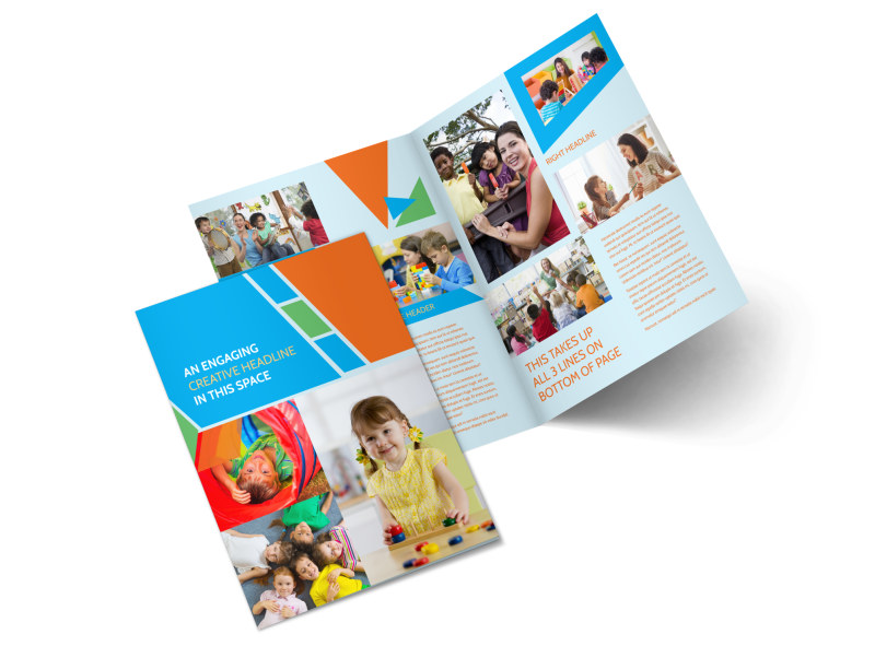 Fun preschool brochure template mycreativeshop for Preschool brochure template