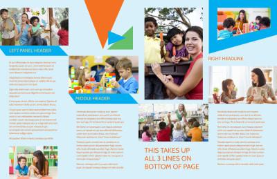 Fun Preschool Brochure Template Preview 2
