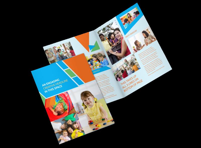 Fun Preschool Brochure Template Preview 1