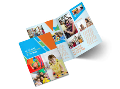Fun Preschool Bi-Fold Brochure Template 2