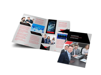 HR Consulting Services Bi-Fold Brochure Template
