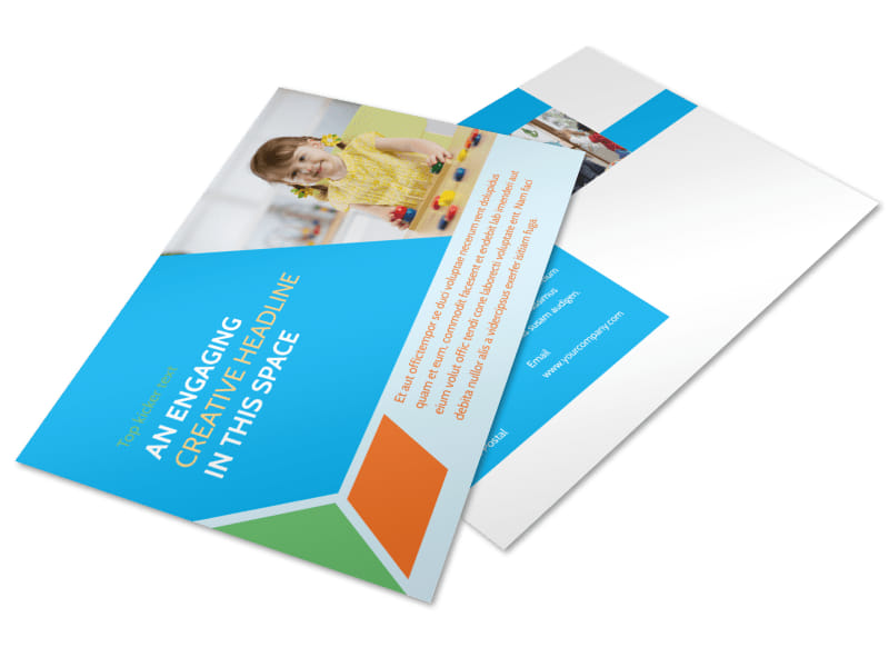 Fun Preschool Postcard Template 2