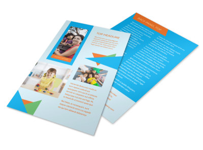 Fun Preschool Flyer Template 3