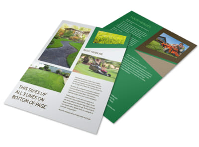 Green Lawn Care Flyer Template