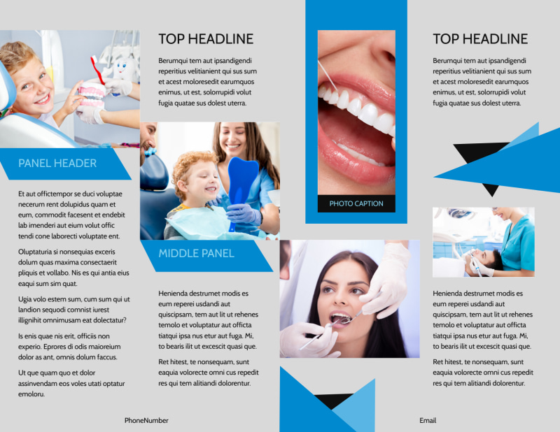 Dental Practice Brochure Template Preview 3