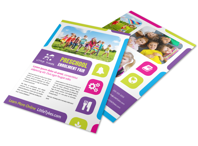 Fun preschool flyer template mycreativeshop for Fun brochure templates