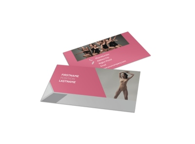 Creative Dance School Business Card Template preview