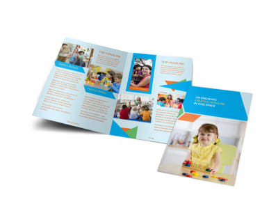 Fun Preschool Bi-Fold Brochure Template