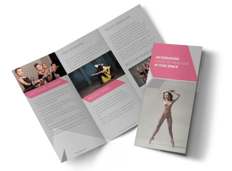 Creative Dance School Brochure Template Mycreativeshop