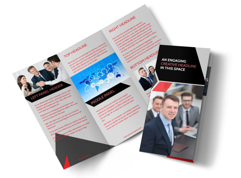 HR Consulting Services Tri-Fold Brochure Template