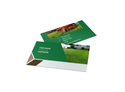 Green Lawn Care Business Card Template