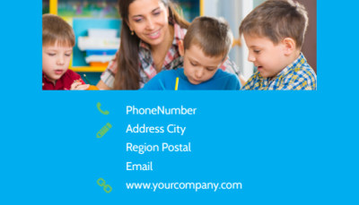 Fun Preschool Business Card Template Preview 2