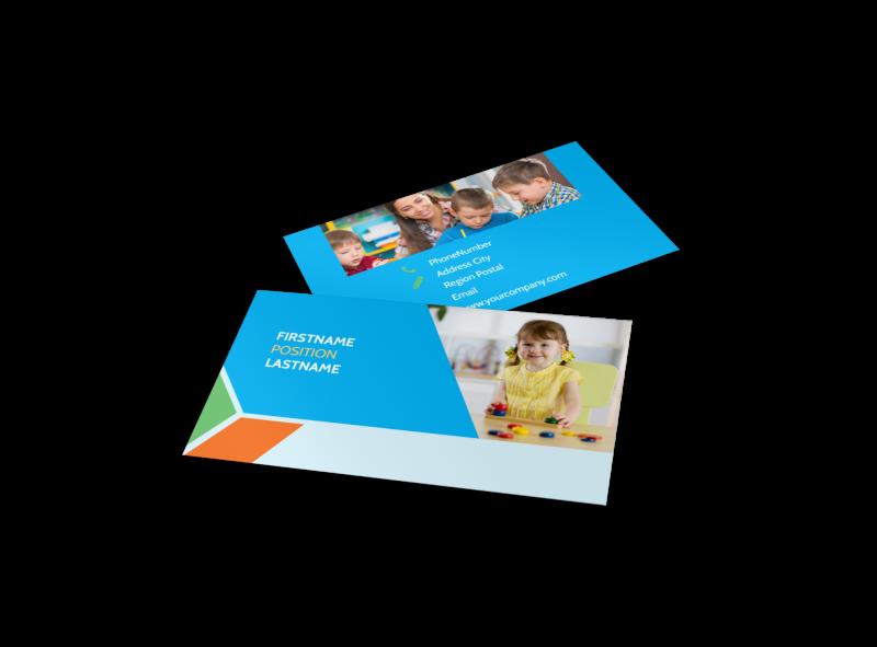 Fun Preschool Business Card Template Preview 1