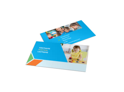 Fun Preschool Business Card Template