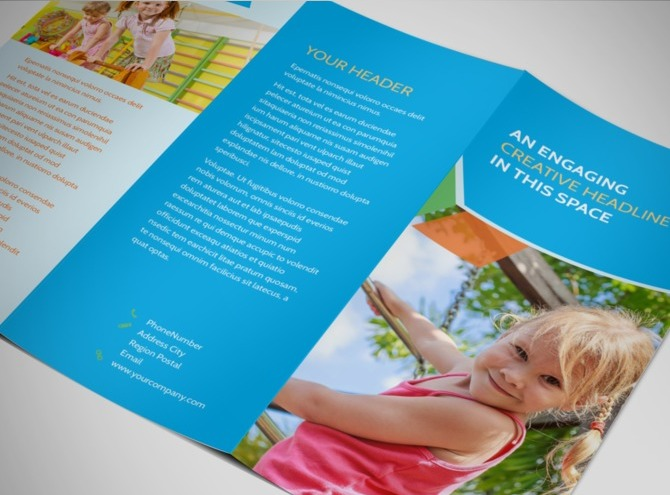 Fun preschool tri fold brochure template for Fun brochure templates