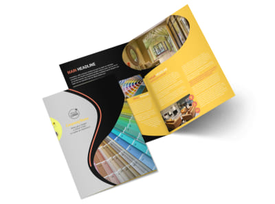 House Painting Contractor Bi-Fold Brochure Template 2 preview
