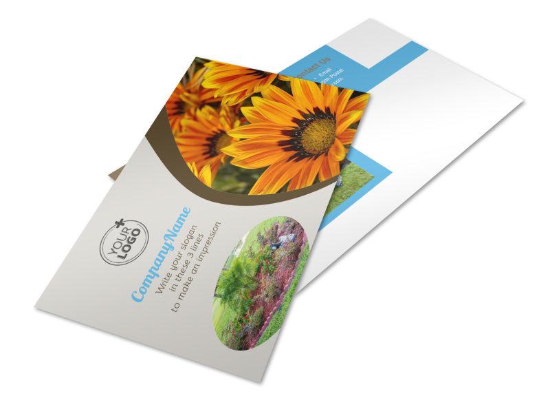 Landscape & Garden Store Postcard Template 2