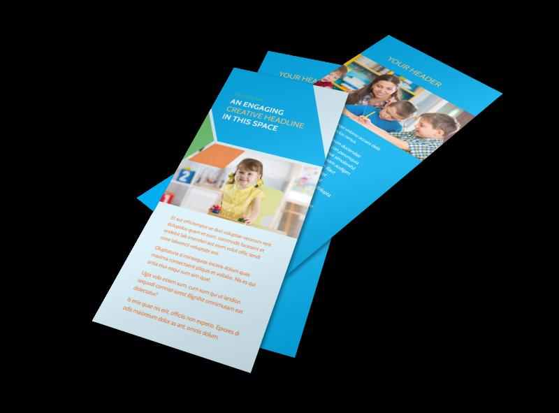 Fun Preschool Flyer Template Preview 1