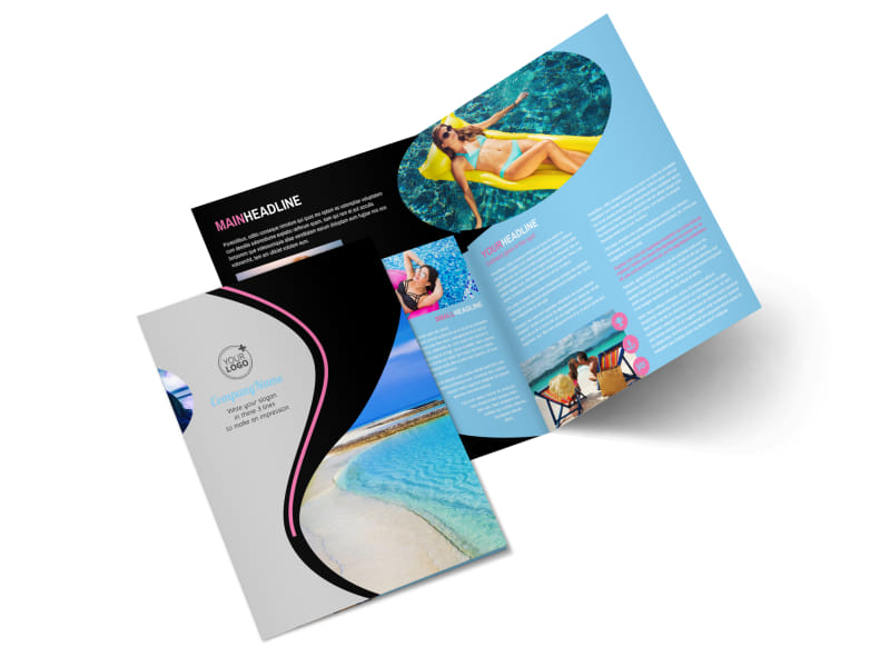 Tanning Salon Bi-Fold Brochure Template 2