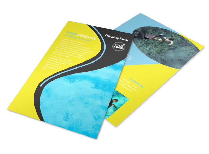 Snorkeling Adventure Flyer Template 3