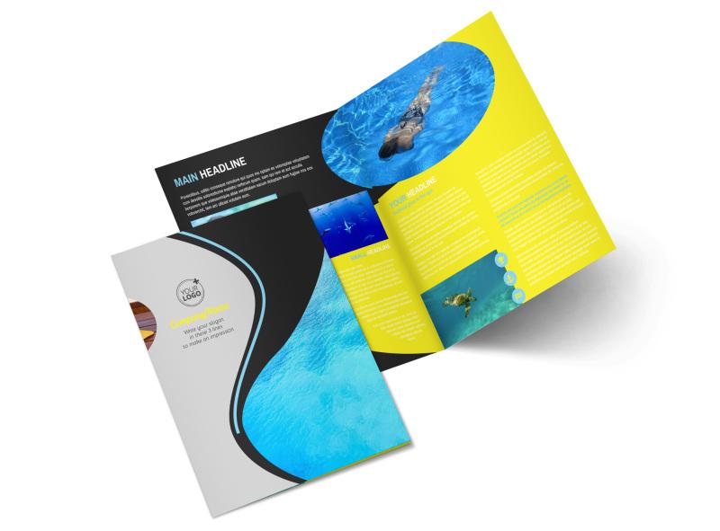 Snorkeling Adventure Bi-Fold Brochure Template 2