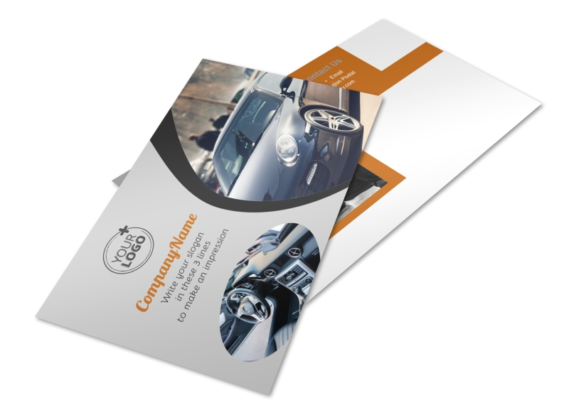 Sport Car Detailing Postcard Template 2