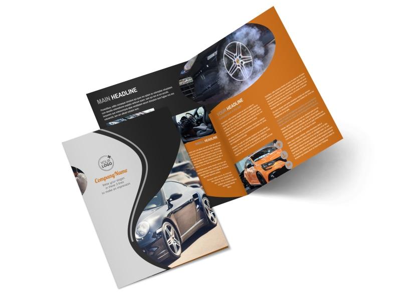 Sport Car Detailing Bi-Fold Brochure Template 2