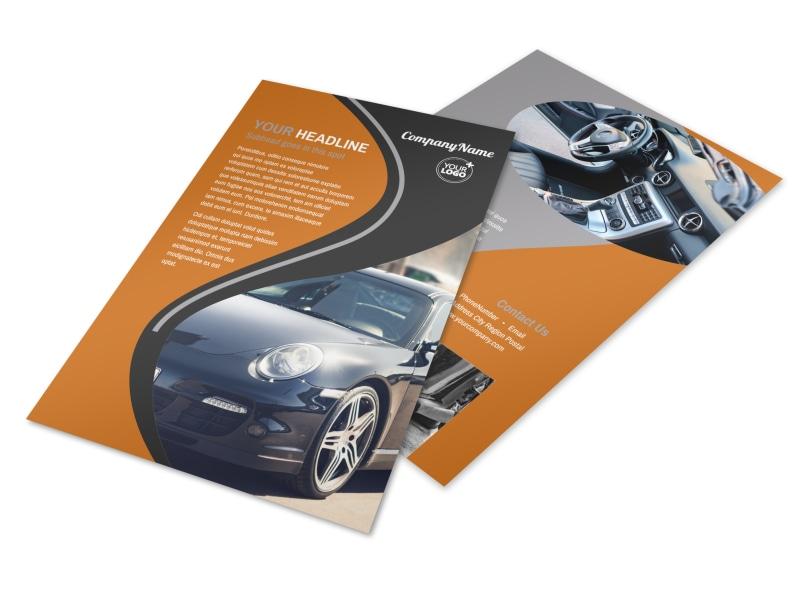 Sport Car Detailing Flyer Template 3
