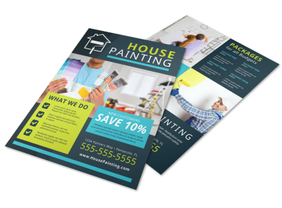 House Painting Contractor Flyer Template preview