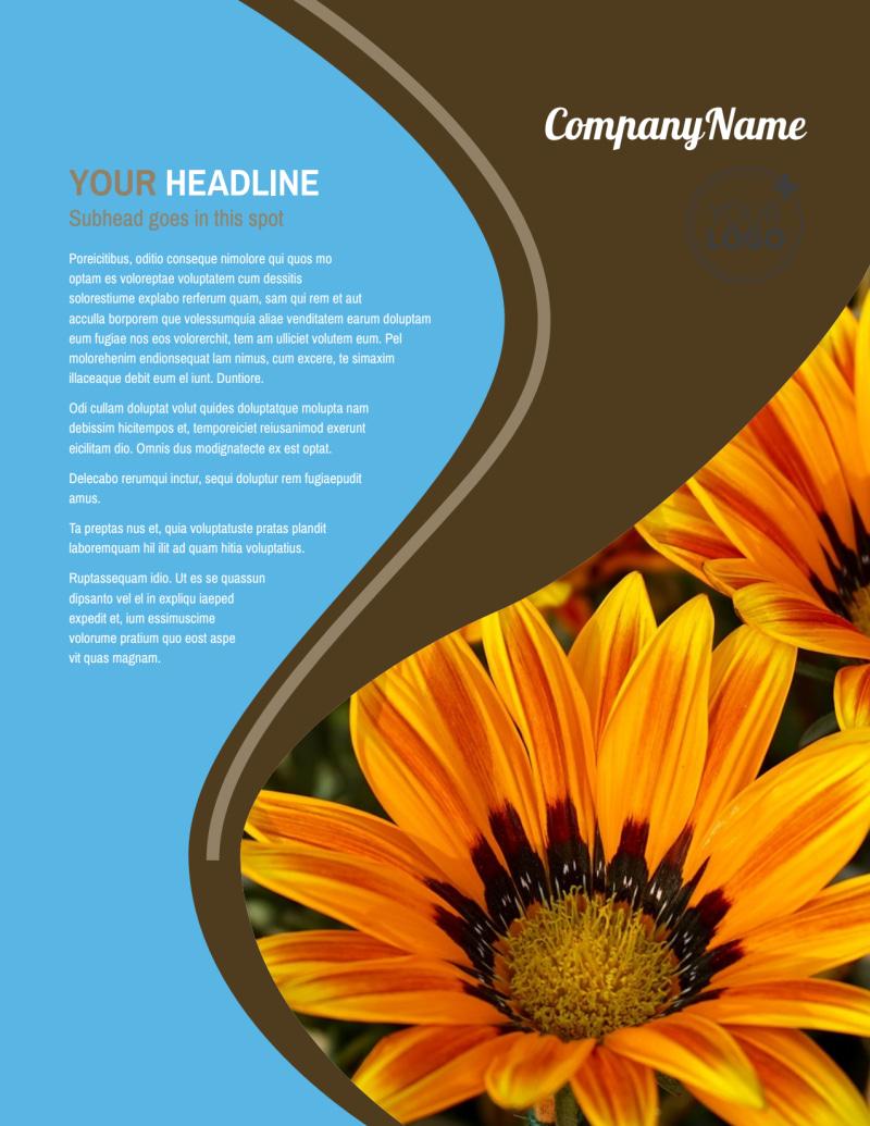 Outdoor Landscape Design Flyer Template Preview 2