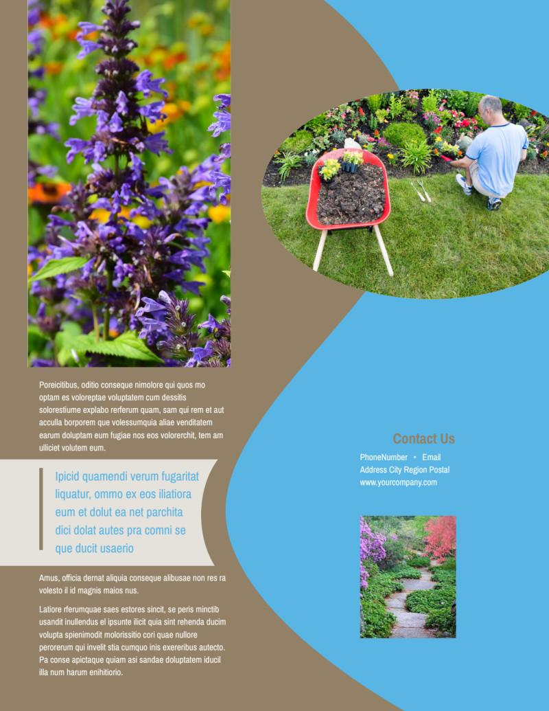 Outdoor Landscape Design Flyer Template Preview 3