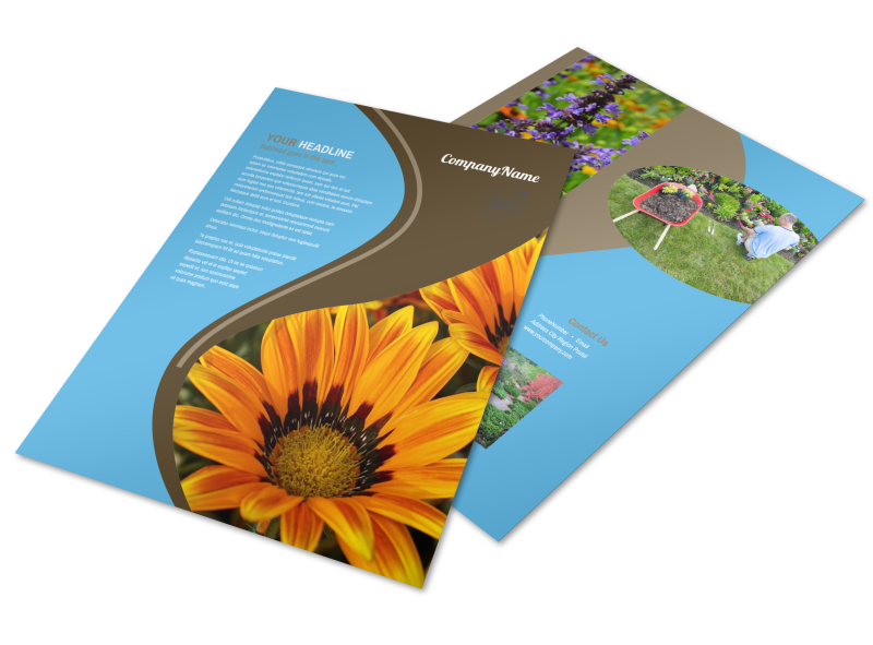 Outdoor Landscape Design Flyer Template Preview 1
