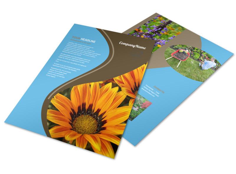 Outdoor Landscape Design Flyer Template Preview 4