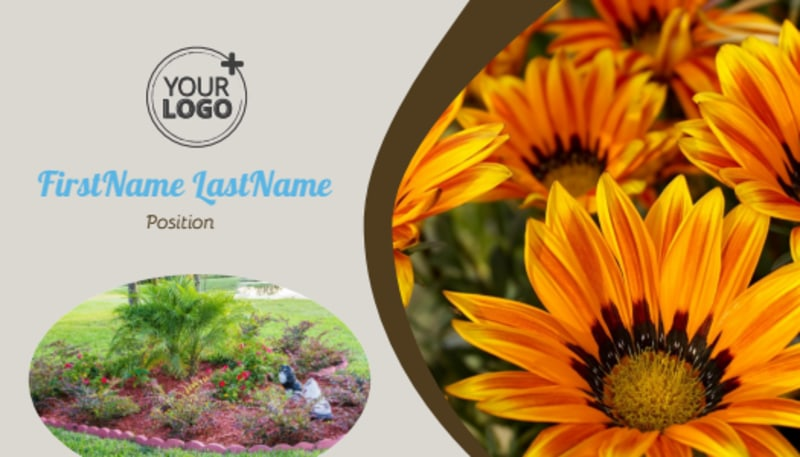 Outdoor Landscape Design Business Card Template Preview 2