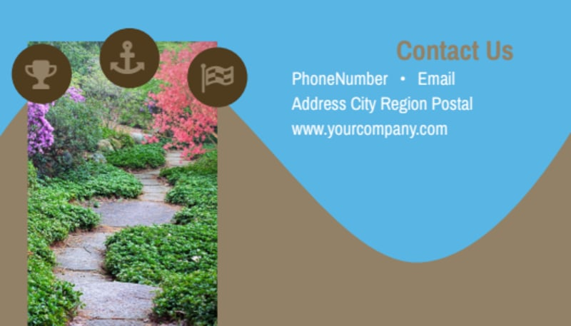 Outdoor Landscape Design Business Card Template Preview 3