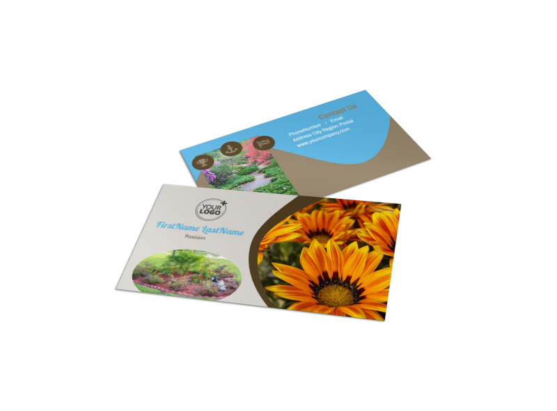 Outdoor Landscape Design Business Card Template Preview 1