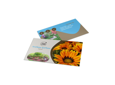 Landscape & Garden Store Business Card Template preview