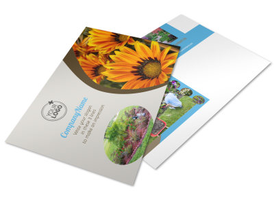 Landscape & Garden Store Postcard Template preview