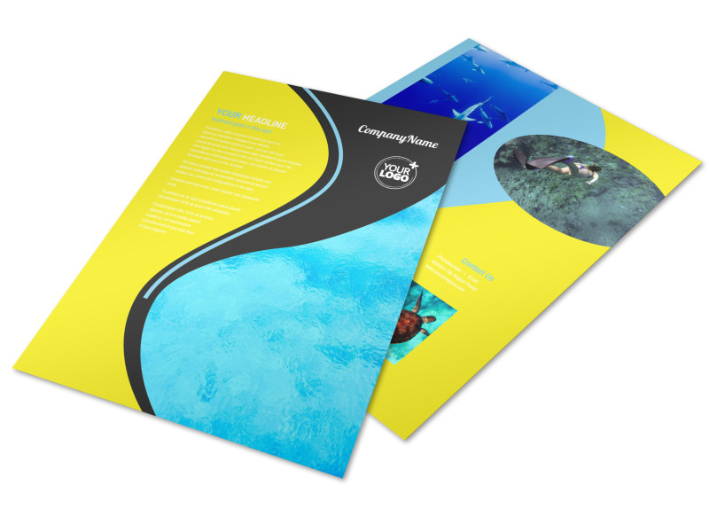 Snorkeling Adventure Flyer Template