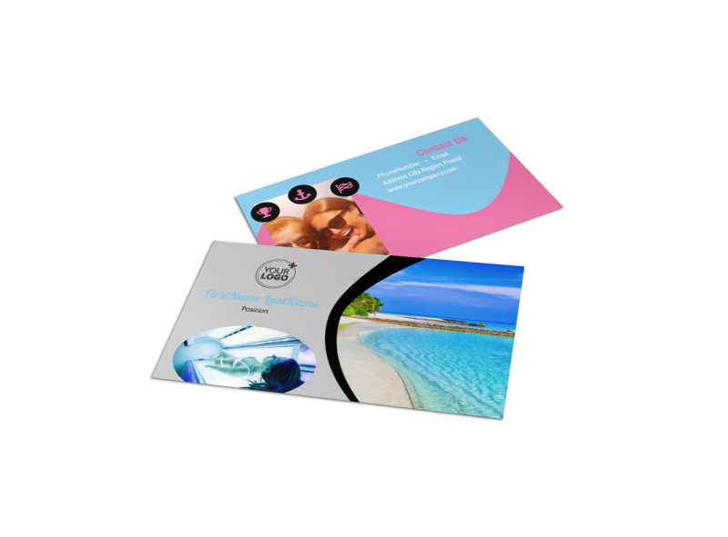 Tanning Salon Business Card Template Preview 1