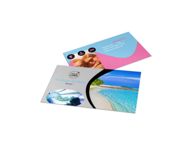 Tanning Salon Business Card Template preview