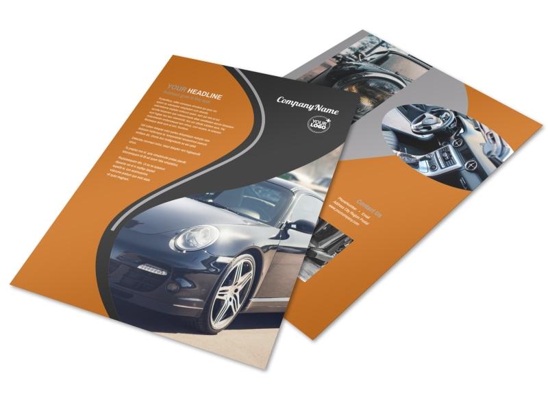 Sport Car Detailing Flyer Template