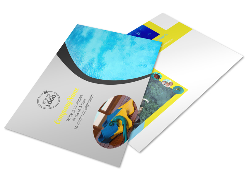 Snorkeling Adventure Postcard Template